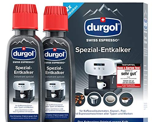 Durgol Swiss Espresso Special Decalcifier for all Coffee Machines, 2 x 125ml